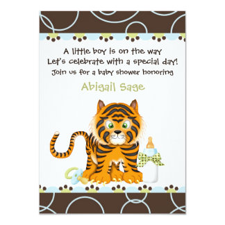 Bengal Tiger  Baby Shower Invitation for Boys