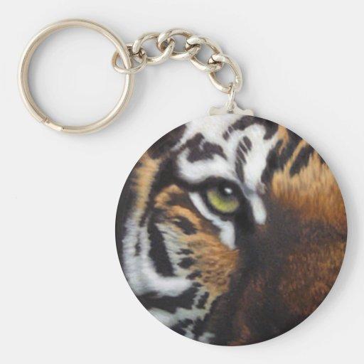 Bengal Tiger Basic Round Button Keychain