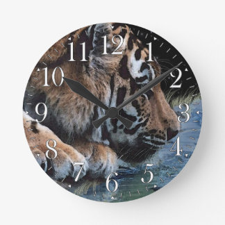 Bengal Tiger Big Cat Wildlife Art Wall Clock