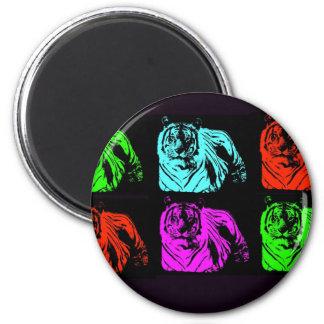 Bengal Tiger Collage Fridge Magnets