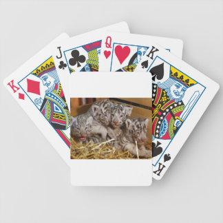 Bengal Tiger Cubs Bicycle Playing Cards
