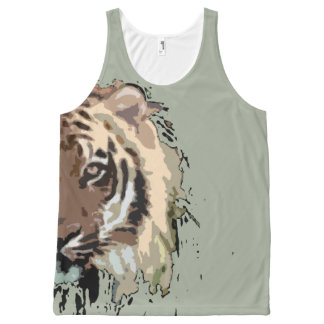 Bengal tiger design cute gift ideas t shirt design All-Over print tank top