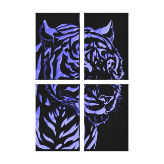 Bengal Tiger Eye 4 Pc Stretched Canvas