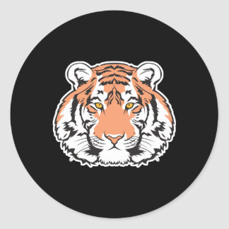 bengal tiger head classic round sticker