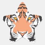 bengal tiger head sticker