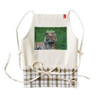 Bengal Tiger in India Zazzle HEART Apron