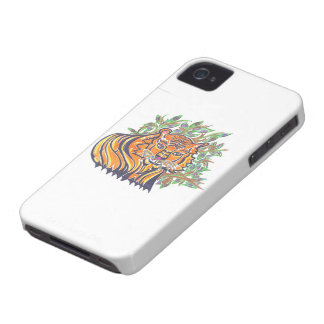 Bengal Tiger in the lush foliage iPhone 4 Case-Mate Cases