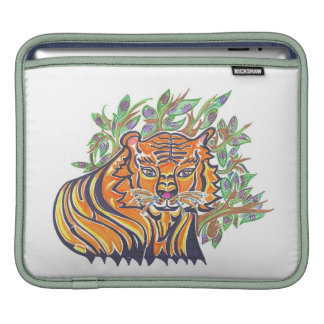 Bengal Tiger in the lush foliage Sleeve For iPads
