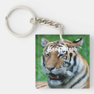 Bengal Tiger Square Acrylic Key Chain