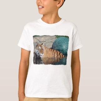 Bengal Tiger Kids White T-Shirt