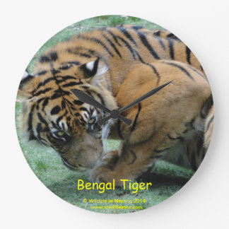 Bengal Tiger Large Clock