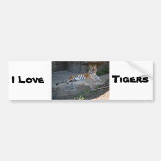 Bengal Tiger Love Bumper Sticker