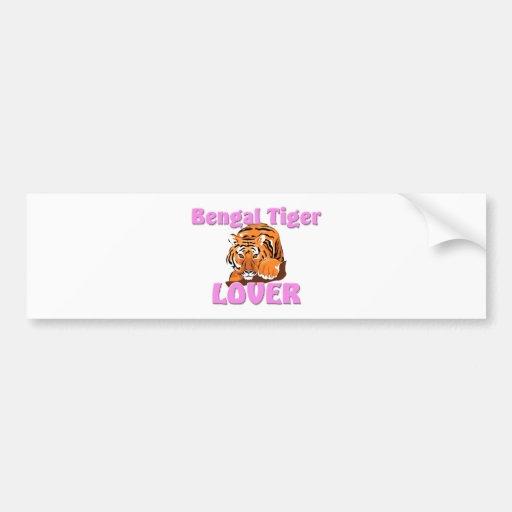 Bengal Tiger Lover Car Bumper Sticker
