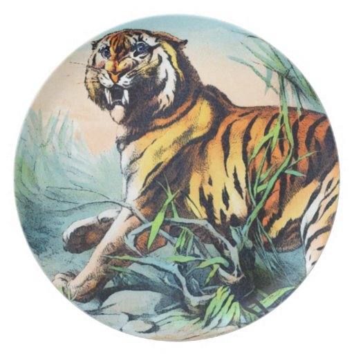 BENGAL TIGER PARTY PLATE