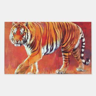 Bengal Tiger Rectangular Sticker