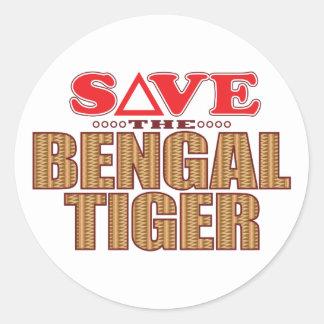 Bengal Tiger Save Classic Round Sticker