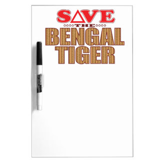 Bengal Tiger Save Dry-Erase Board