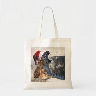 Bengal Tiger wearing a Santa Hat for Christmas Tote Bag