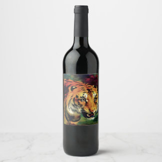 Bengal Tiger Wine Label