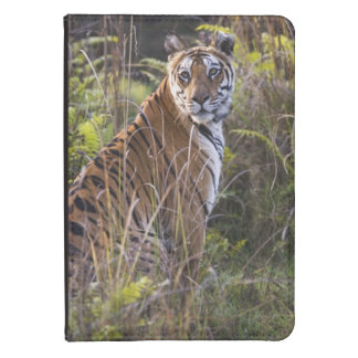 Bengal tigress in tall grass, trying to hunt, kindle case