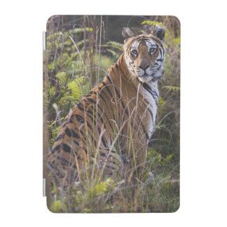 Bengal tigress in tall grass, trying to hunt, iPad mini cover