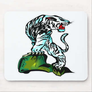 Bengal White Tiger Mouse Pads