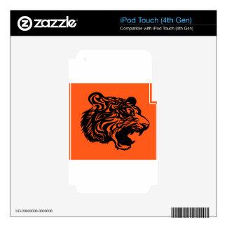 Bengala negra skins para iPod touch 4G