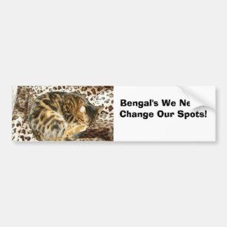 ¡Bengala nunca cambia sus puntos! Pegatina Para Auto