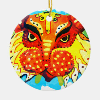 Bengali New Years Lion Design Gifts & Phone Cases Ceramic Ornament