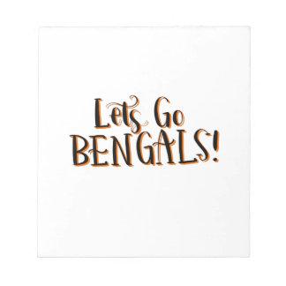 Bengals Print Notepad