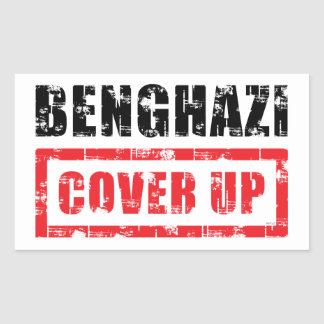 Bengasi cubre para arriba pegatina rectangular