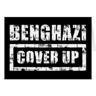 Bengasi cubre para arriba tarjeta de felicitación