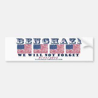 Bengasi - no olvidaremos etiqueta de parachoque