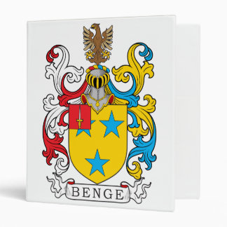 Benge Family Crest 3 Ring Binder