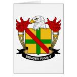 Benger Family Crest Greeting Card