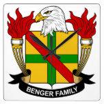 Benger Family Crest Wall Clocks