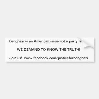 benghazi bumper sticker demand the truth car bumper sticker