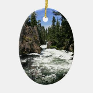Benham Falls, Sunriver, Oregon Ceramic Ornament