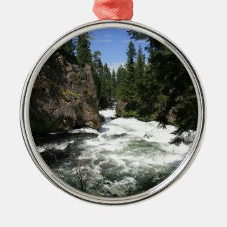 Benham Falls, Sunriver, Oregon Metal Ornament