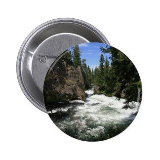 Benham Falls, Sunriver, Oregon Pinback Buttons