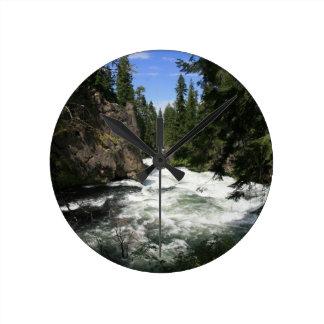Benham Falls, Sunriver, Oregon Wallclocks