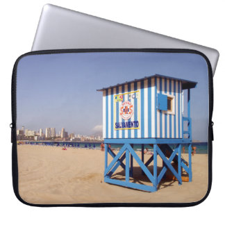 Benidorm, house of rescue in the beach laptop sleeve