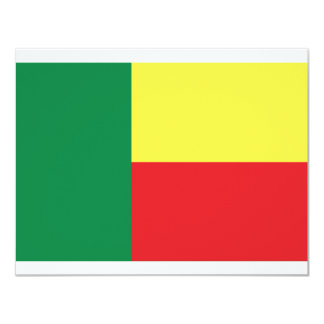 benin africa flag icon card