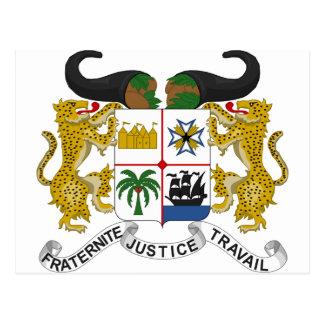 Benin Coat of Arms Postcard