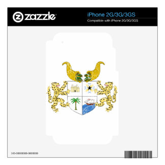 Benin Coat Of Arms Decal For iPhone 3G