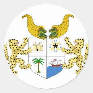 benin emblem round stickers