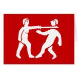 Benin Empire Flag / Emblem Card