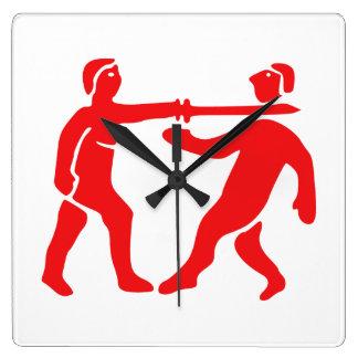 Benin Empire Flag / Emblem Square Wall Clock
