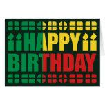 Benin Flag Birthday Card