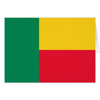 Benin Flag Card